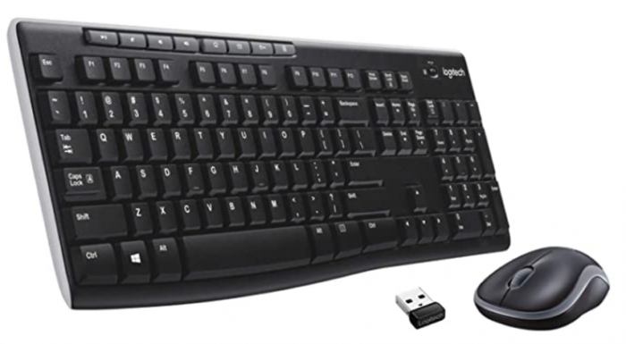 Logitech MK270 keyboard RF Wireless QWERTY UK English Black