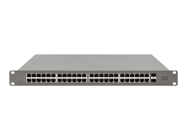 Cisco Meraki Go GS110-48 - Switch - Managed - 48 x 10/100/1000 + 2 x SFP (mini-GBIC) (uplink) - desktop, rack-mountable